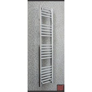 300mm (w) x 1200mm (h) Single Heat Straight Chrome Towel Rail