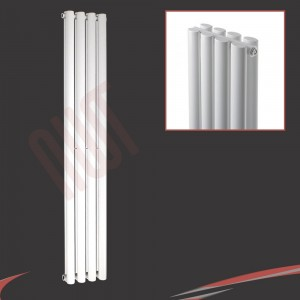 280mm (w) x 1800mm (h) Brecon Double White Radiator