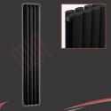 280mm (w) x 1800mm (h) Brecon Double Black Radiator