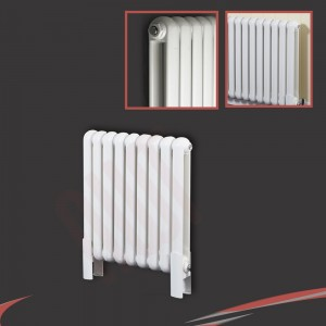"556mm (w) x 600mm (h) ""Elias"" White Vertical Column Radiator (9 Sections)"