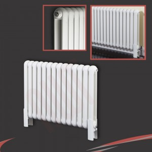 "853mm (w) x 600mm (h) ""Elias"" White HorizontalColumn Radiator (9 Sections)"