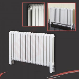 "1032mm (w) x 600mm (h) ""Elias"" White Horizontal Column Radiator (17 Sections)"