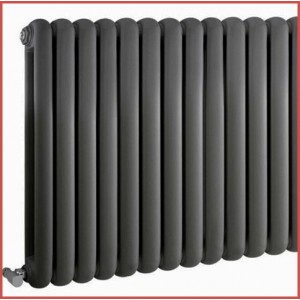 600mm (h) x 1032mm (w) Elias Anthracite Horizontal Radiator