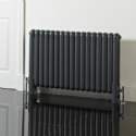 600mm (h) x 853mm (w) Elias Anthracite Horizontal Radiator