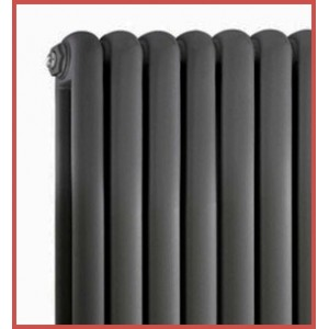 600mm (h) x 556mm (w) Elias Anthracite Vertical Radiator
