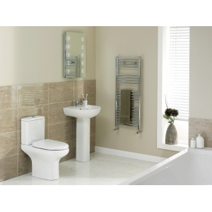 """""""Compact"""" 550mm(w) Basin & Pedestal (1 Or 2 Tap Holes)"""
