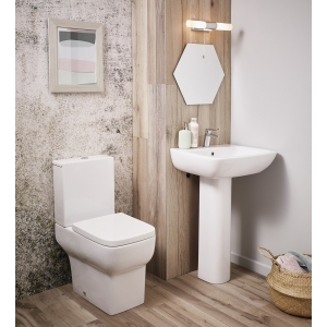 """""""Bella"""" 355mm(W) X 790mm(H) Close Coupled Toilet (Includes Soft Close Seat)"""