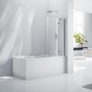 6mm Framless 4 Fold Bath Screen