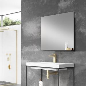 """""""Mode"""" 800mm(w) x 700mm(h) Mirror with Shelf"""