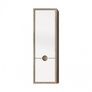 Kompass 300mm Oak & White Tall Cabinet Wall Hung Unit