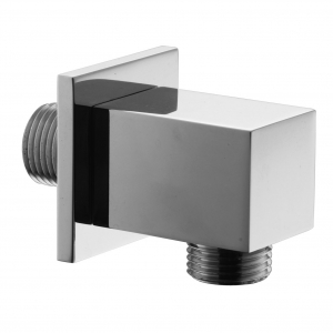Square Chrome Outlet Elbow