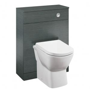 Aquatrend Grey Oak Toilet Unit