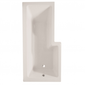 """Blok L-Shaped"" Luxury Shower Bath - Left Handed"
