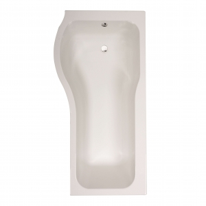 Compact P-Shaped Luxury Shower Bath - Left Handed