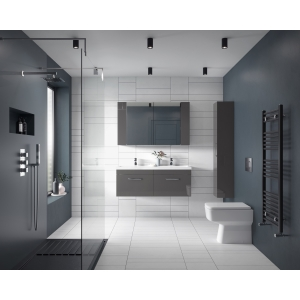 """""""Bliss"""" 350mm(w) x 400mm(h) Square Back to Wall Toilet Pan (Optional Seats)"""
