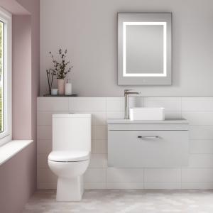 """""""Asselby"""" 410mm(w) x 810mm(h) Close Coupled Toilet (Optional Seat)"""