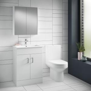 """Harmony"" 355mm(w) x 800mm(h) Semi Flush to Wall Toilet Pan & Cistern (Optional Seats)"