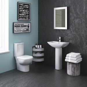 """Provost"" 360mm(w) x 805mm(h) Toilet Pan & Cistern (Optional Seats)"