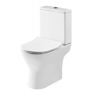 Freya Short Projection Toilet Pan with Cistern and Soft Close Toilet Seat