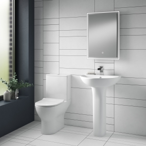 """""""Freya"""" 375mm(w) x 800mm(h) Short Projection Toilet Pan & Cistern (Includes Soft Close Seat)"""