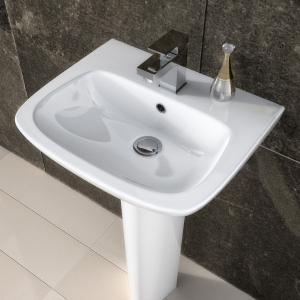 """Ambrose"" 450mm(w) x 405mm(h) Basin & Semi Pedestal (1 Tap Hole)"