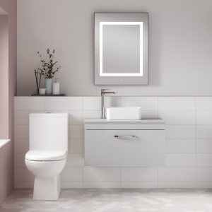 """""""Ivo"""" 350mm(w) x 850mm(h) Comfort Height Close Coupled Toilet & Cistern (Optional Seats)"""