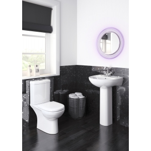 """""""Lawton"""" 360mm(w) x 805mm(h) Close Coupled Compact Toilet & Cistern (Optional Seats)"""