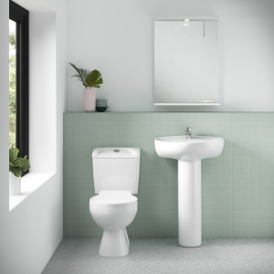 """""""Melbourne"""" 382mm(w) 748mm(h) Toilet Pan with Cistern (Includes Seat)"""
