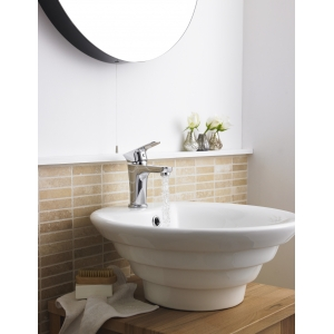 460mm (w) x 200mm (h) x 460mm (d) Round Counter Top Basin With Overflow