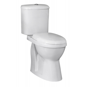 Doc M Comfort Height Toilet Pan with Cistern and Seat