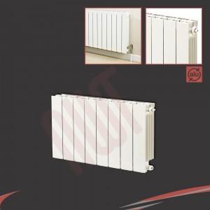 668mm (w) x 440mm (h) Trojan White Aluminium