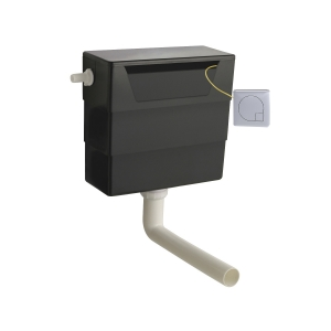 Universal Access Cistern with Chrome Square Flush Plate