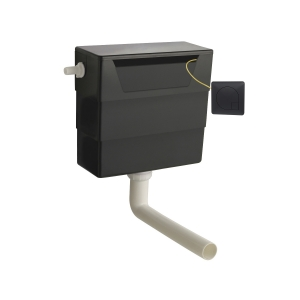 Universal Access Cistern with Black Square Flush Plate