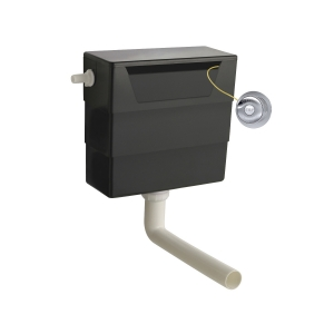 Universal Access Cistern with Chrome Traditional Flush Plate