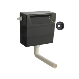 Universal Access Cistern with Black Traditional Flush Plate