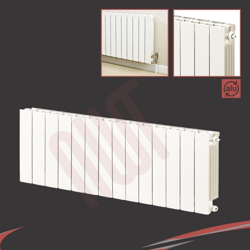 1148mm (w) x 440mm (h) Trojan White Aluminium