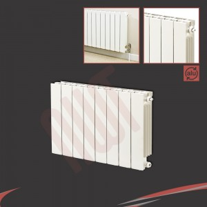 668mm (w) x 590mm (h) Trojan White Aluminium