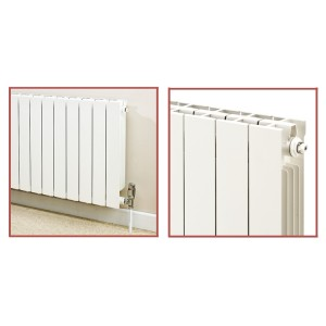 828mm (w) x 590mm (h) Trojan White Aluminium