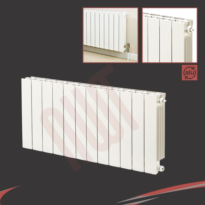 988mm (w) x 590mm (h) Trojan White Aluminium