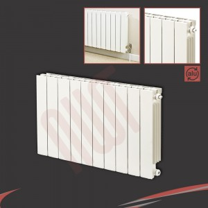 828mm (w) x 690mm (h) Trojan White Aluminium