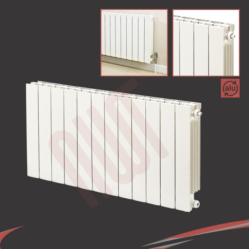 988mm (w) x 690mm (h) Trojan White Aluminium