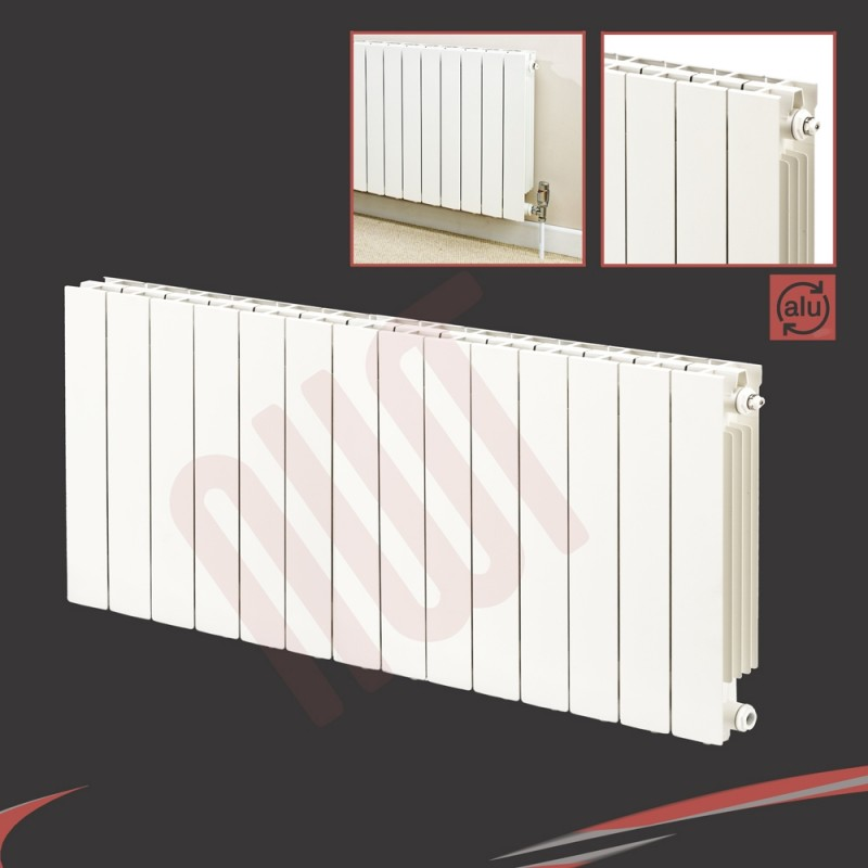 1148mm (w) x 690mm (h) Trojan White Aluminium
