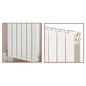 428mm (w) x 1446mm (h) Trojan White Aluminium