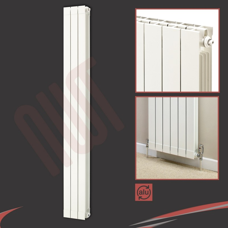 268mm (w) x 1846mm (h) Trojan White Aluminium