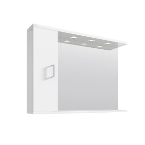 White 1050mm Mirror & Cabinet With 3 Lights
