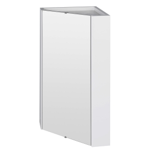 Corner Mounted Mirror Cabinet