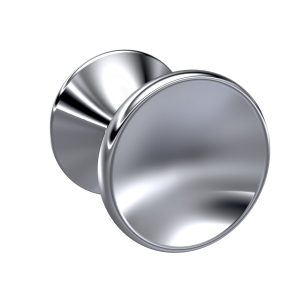 Chrome Indented Round Knob