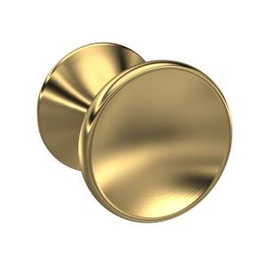 Brushed Brass Indented Round Knob