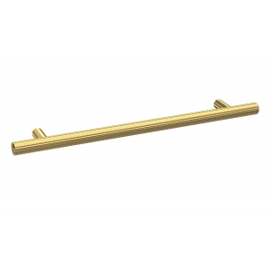Brushed Brass Knurled Bar Handle 192mm
