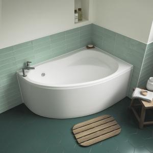"Right Handed ""Pilot"" Corner Bath - 1450mm(L) x 950mm(W) - Includes Front Panel"